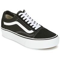 Sapatos Mulher Sapatilhas Vans UA OLD SKOOL PLATFOR Preto / Branco