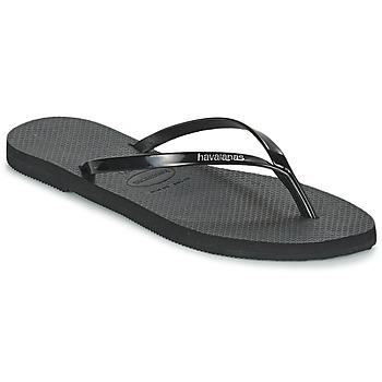 Sapatos Mulher Chinelos Havaianas YOU METALLIC Preto