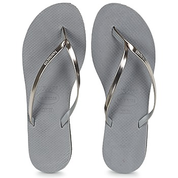 Sapatos Mulher Chinelos Havaianas YOU METALLIC Cinza