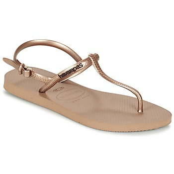 Sapatos Mulher Chinelos Havaianas FREEDOM Rosa / Ouro