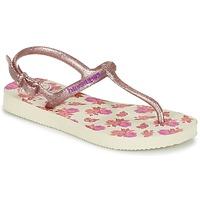 Sapatos Rapariga Chinelos Havaianas KIDS FREEDOM PRINT Bege / Rosa