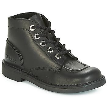 Sapatos Mulher Botas baixas Kickers KICK COL PERM Preto