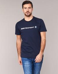 Textil Homem T-Shirt mangas curtas Puma BMW MSP LOGO TEE Marinho