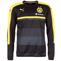 Textil Homem Sweats Puma BVB TRAINING SWEAT Preto / Amarelo