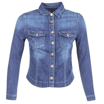 Textil Mulher casacos de ganga Le Temps des Cerises LILLYM Azul