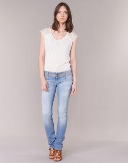 Textil Mulher Calças Jeans Le Temps des Cerises 220 Azul / Claro
