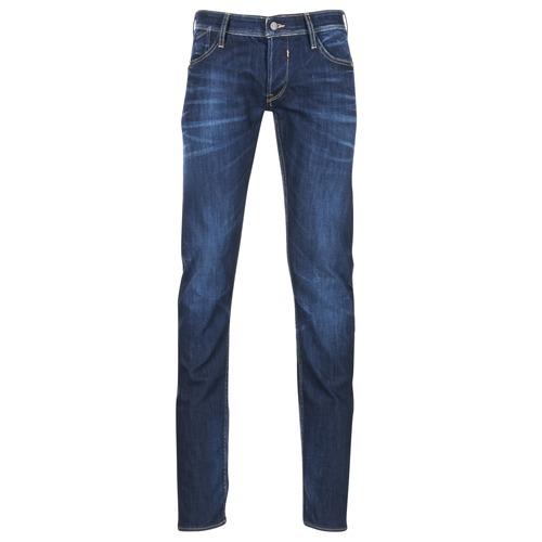 Textil Homem Calças Jeans Le Temps des Cerises 711 Azul / Escuro