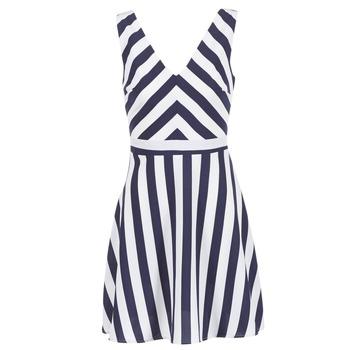 Textil Mulher Vestidos curtos Molly Bracken TRODAK Marinho / Branco