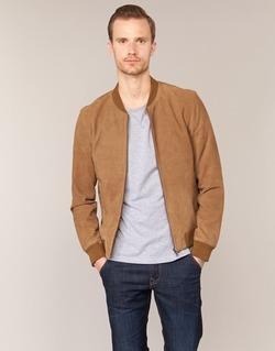 Textil Homem Casacos de couro/imitação couro Selected MARK Camel