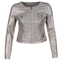 Textil Mulher casacos de ganga Les P'tites Bombes OMILATE Prata