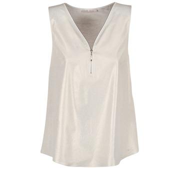 Textil Mulher Tops / Blusas Les P'tites Bombes LOUVALE Branco / Ouro