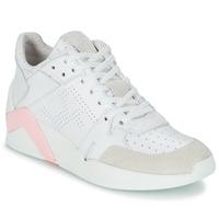 Sapatos Mulher Sapatilhas de cano-alto Serafini CHICAGO Branco / Rosa