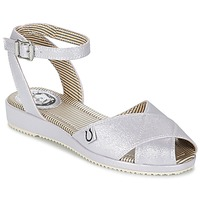 Sapatos Mulher Sandálias Miss L'Fire HARLOW Prata