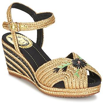 Sapatos Mulher Sandálias Miss L'Fire RENEE Ouro