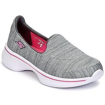 Sapatos Rapariga Slip on Skechers GO WALK 4 Cinza