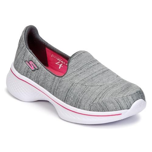 Sapatos Rapariga Slip on Skechers GO WALK 4 Cinza