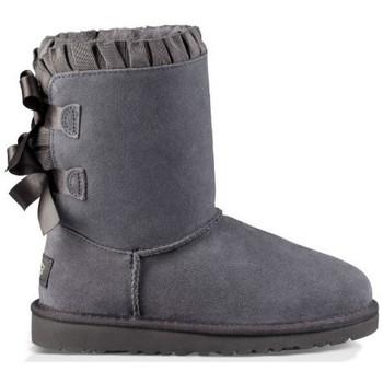 Sapatos Mulher Botas baixas UGG Botas K BAILEY BOW RUFFLES KIDS Cinza