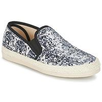 Sapatos Mulher Alpargatas Spiral VIRGINIA Preto / Branco