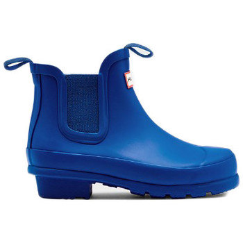 Sapatos Mulher Botas de borracha Hunter ORIGINAL KIDS CHELSEA Azul