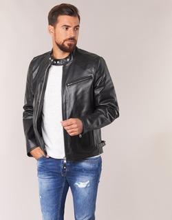Textil Homem Casacos de couro/imitação couro Schott LC 940 D Preto