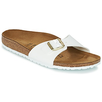 Sapatos Mulher Chinelos Birkenstock MADRID Branco / Ouro