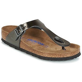 Sapatos Mulher Chinelos Birkenstock GIZEH SFB Cinza / Metalizado