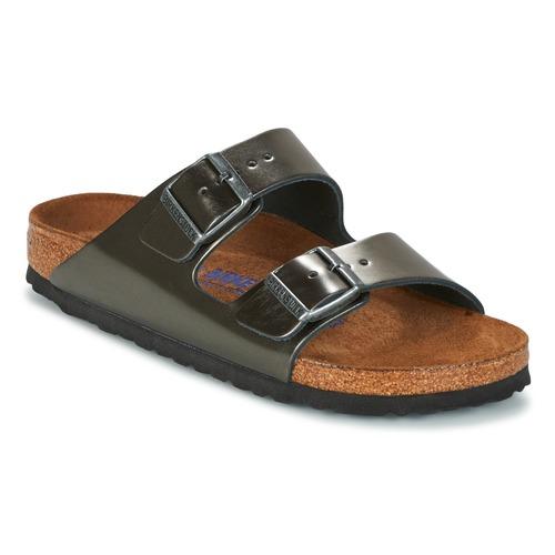Sapatos Mulher Chinelos Birkenstock ARIZONA Antracite