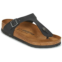 Sapatos Mulher Chinelos Birkenstock GIZEH Preto
