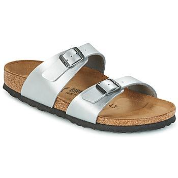 Sapatos Mulher Chinelos Birkenstock SYDNEY Prata