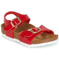 Sapatos Criança Sandálias Birkenstock RIO Vermelho