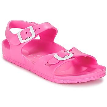 Sapatos Criança Sandálias Birkenstock RIO EVA Rosa / Fluo