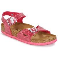 Sapatos Criança Sandálias Birkenstock RIO Rosa / Brilhante