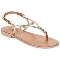 Sapatos Mulher Sandálias Betty London GARDO Ouro / Camel