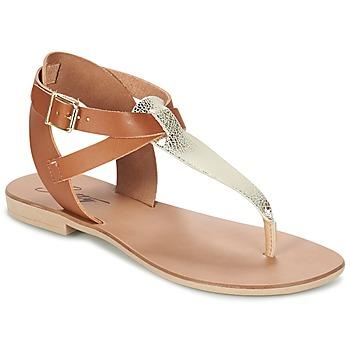 Sapatos Mulher Sandálias Betty London VITAMO Camel / Ouro
