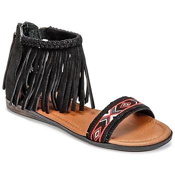 Sapatos Mulher Sandálias Minnetonka MOROCCO Preto