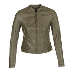 Textil Mulher Casacos de couro/imitação couro Vero Moda QUEEN Cáqui
