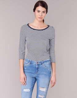 Textil Mulher T-shirt mangas compridas Vero Moda MARLEY Marinho / Branco