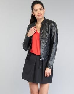 Textil Mulher Casacos de couro/imitação couro Vero Moda QUEEN Preto