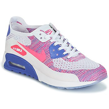 Sapatos Mulher Sapatilhas Nike AIR MAX 90 FLYKNIT ULTRA 2.0 W Branco / Azul / Rosa