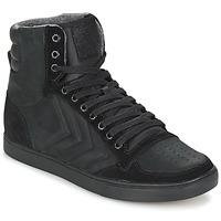 Sapatos Sapatilhas de cano-alto Hummel TEN STAR MONO OILED IG Preto / Preto