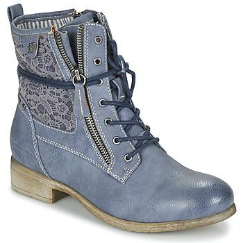 Sapatos Mulher Botas baixas Tom Tailor RELOUNI Azul