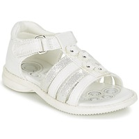 Sapatos Rapariga Sandálias Chicco CAROTA Branco / Prata