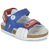 Sapatos Rapaz Sandálias Chicco HELIO Azul / Branco / Vermelho