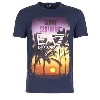 Textil Homem T-Shirt mangas curtas Emporio Armani EA7 TRAIN GRAPHIC Azul