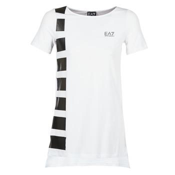 Textil Mulher Túnicas Emporio Armani EA7 TRAIN MASTER Branco / Preto