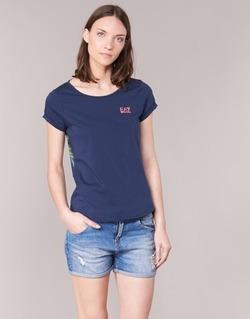 Textil Mulher Tops / Blusas Emporio Armani EA7 TRAIN GRAPHIC Azul