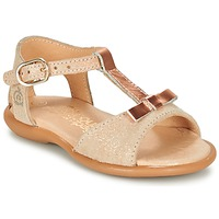 Sapatos Rapariga Sandálias Citrouille et Compagnie GUGULE Ouro