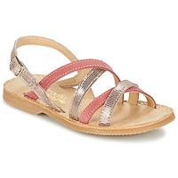 Sapatos Rapariga Sandálias Citrouille et Compagnie GENTOU Rosa / Prata