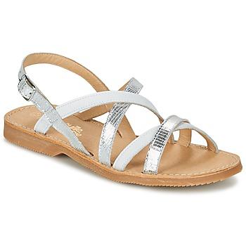 Sapatos Rapariga Sandálias Citrouille et Compagnie GENTOU Branco / Prata