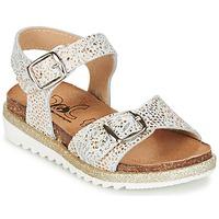 Sapatos Rapariga Sandálias Citrouille et Compagnie GUAFRETTE Ouro / Branco